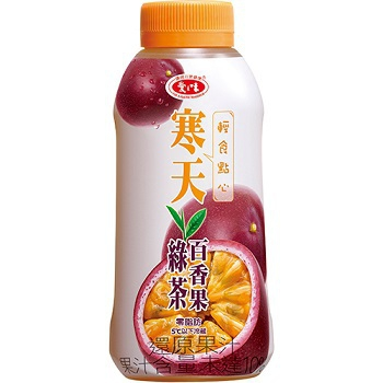 愛之味 寒天百香果綠茶(400ml/瓶)