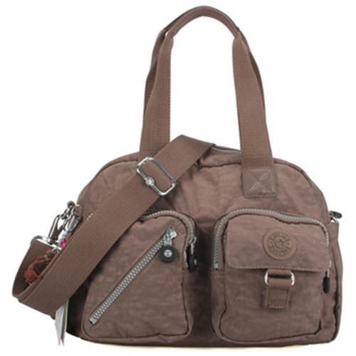 Kipling Basic 口袋Defea肩側背兩用波士頓包(460108灰褐)