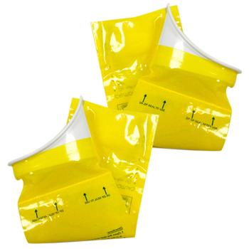 金德恩 行動廁所-攜帶式尿袋-(拋棄式馬桶/台灣製造)一盒二入