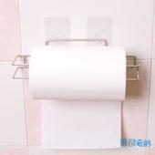 《OHKINA》隨手貼系列_捲筒餐巾紙置物架組(方型勾)