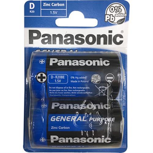 PANASONIC 碳鋅電池 1號-2入