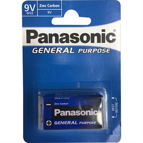 PANASONIC 碳鋅電池(9V-1入)