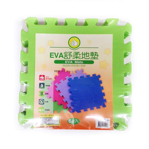 FP EVA舒柔地墊6入(綠色-32x32x1公分)