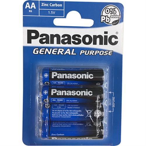 PANASONIC 碳鋅電池(3號-4入)