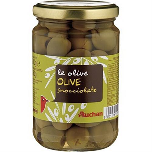 Auchan 義大利醃漬去核橄欖(300GR/瓶)