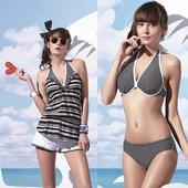 《SARBIS》大女比基尼四件式泳裝附泳帽B94601(M)