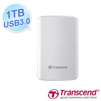 Transcend 創見 25D3 1TB 2.5吋懸吊式吸震 行動硬碟 白(25D3 1TB)