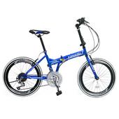 《BIKEDNA》G1 PLUS 20吋24速摺疊車 451輪組/小折 高CP值折疊車(藍)