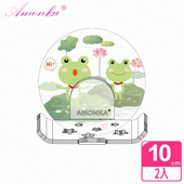 《AMONKA》3R神奇無痕掛勾長型星星造型香皂盤(2隻蛙)2入