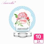 《AMONKA》3R神奇無痕掛勾花瓣造型乳液罐(點點玫瑰)(藍)2入