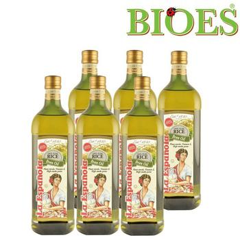 《囍瑞BIOES》萊瑞100% 原裝進口玄米油(大容量1000ml/瓶 - 6入)(B0200406)買就送:有機濾掛咖啡10g *2包 (送完為止)