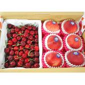 《鮮果日誌》夏季黃金禮盒組(加州水蜜桃6入+美加櫻桃2.5台斤)