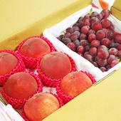《鮮果日誌》黃金健康禮盒組(加州水蜜桃6入+巨峰葡萄2.5台斤)