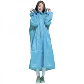 《RT》RT全開式雨衣 天藍色(4XL)