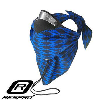 英國 RESPRO BANDIT 過濾PM2.5領巾式口罩(藍菱格)
