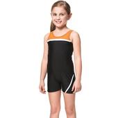 《SARBIS》泡湯SPA戲水女童連身四角泳裝附泳帽B85261(12)
