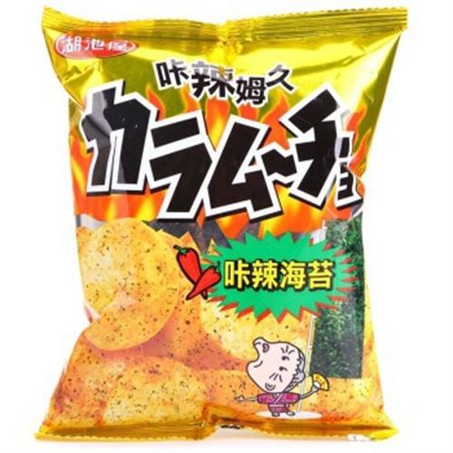 湖池屋 洋芋片(卡辣海苔-57g)