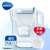《德國BRITA》3.6L Fill&enjoy Style純淨濾水壺-藍色