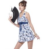 《SAIN SOU》泡湯SPA連身裙泳裝附泳帽A98640(L)