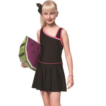 《SAIN SOU》泡湯SPA少女連身裙泳裝附泳帽A98617(S)