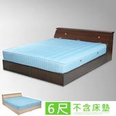 《Homelike》艾莉6尺房間組(床頭箱+床底)-二色(胡桃)