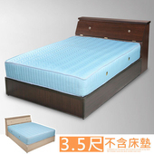 《Homelike》艾莉3.5尺房間組(床頭箱+床底)-二色(胡桃)
