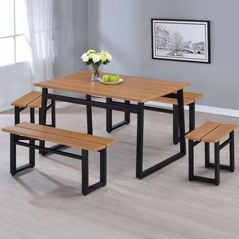 《Homelike》維納工業風餐桌椅組(一桌四椅)