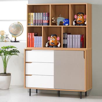 《Homelike》紹索4尺收納書櫃