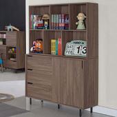 《Homelike》坎斯4尺收納書櫃