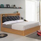 《Homelike》紹索抽屜式床台組-雙人加大6尺