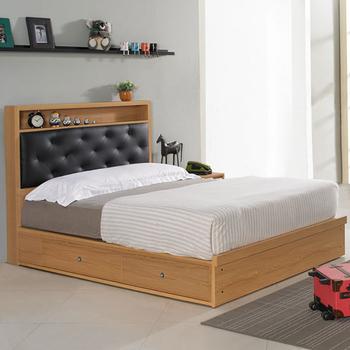 《Homelike》紹索抽屜式床台組-單人3.5尺