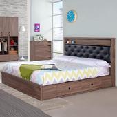 《Homelike》坎斯抽屜式床台組-雙人加大6尺