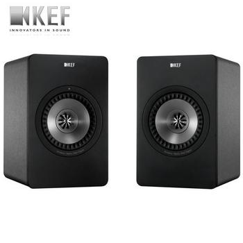 ▼KEF 英國 X300A / X-300A Wireless 無線 Hi-Fi 主動式同軸書架喇叭 公司貨 【買再送超夯運動耳機*1】(尊爵黑)