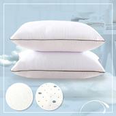《三浦太郎》CERES 高彈性舒眠科技羽絲絨枕/2款任選(印花白)