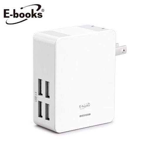 Books B16 AC轉USB 4孔充電器E-PCB112