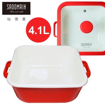 仙德曼 SADOMAIN 琺瑯方鍋(深)-4.1L(20cm)