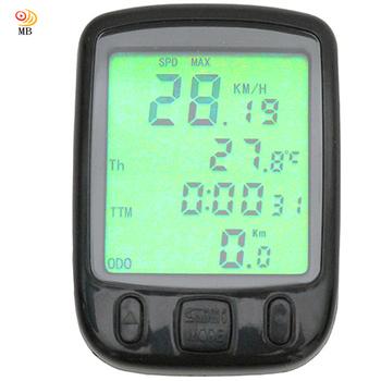 月陽 背光防水型超大字幕24功能溫度里程自行車錶碼錶(SD-563A)