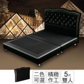《ihouse》石川頂級舒適耐刮皮床片-雙人5尺(黑色)