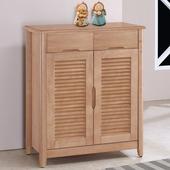 《Homelike》艾利2.8尺百葉鞋櫃-原木色