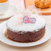 《預購-樂活e棧》生日快樂造型蛋糕-古典巧克力蛋糕(6吋1顆)