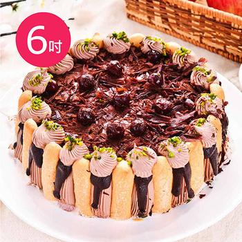 《預購-樂活e棧》生日快樂蛋糕-精緻濃郁黑魔豆盆栽(水果x布丁,6吋1顆)