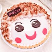 《預購-樂活e棧》生日快樂造型蛋糕-真愛媽咪蛋糕(水果x布丁,6吋1顆)