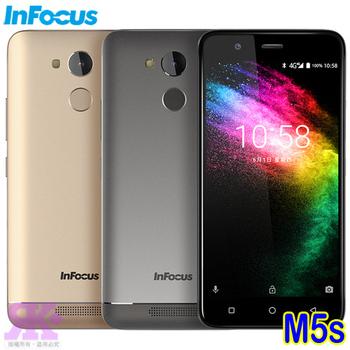 InFocus M5s (3G/32G) 5.2吋四核智慧手機-贈專用保護套+螢幕保護貼+指環支架(鉑光金)