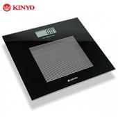 《KINYO》KINYO 黑晶鋼化玻璃電子體重計(無)