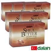 《土耳其dalan》乳油木果乳霜皂 6入特惠組(90gX6)買就送歐美香氛皂一入(隨機出貨)