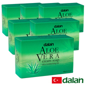 《土耳其dalan》庫拉索蘆薈乳霜皂 6入特惠組(90gX6)滿99送香皂滿499送洗髮露50ml滿999送去角質手套(不累贈