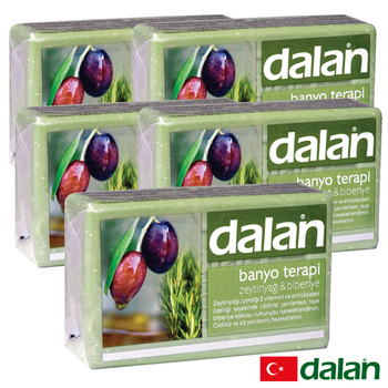 《土耳其dalan》橄欖油迷迭香療浴皂  5入超值組(175gX5)好禮三重送(贈品不累贈,依訂單結帳金額門檻擇一贈送)