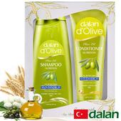 《土耳其dalan》橄欖油蠶絲控油去屑魔髮組禮盒(400ml+200ml)