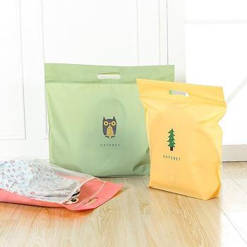 JTourist Q版卡通包包防水防塵收納袋(小)(貓頭鷹草綠)