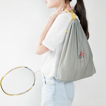 JTourist Q版卡通防水萬用PE束口袋(大)(腳踏車灰色)